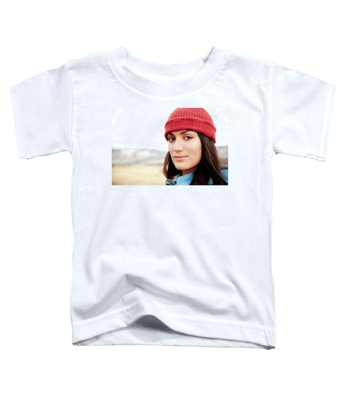 A Portrait Of A Young Woman While Toddler T-Shirt