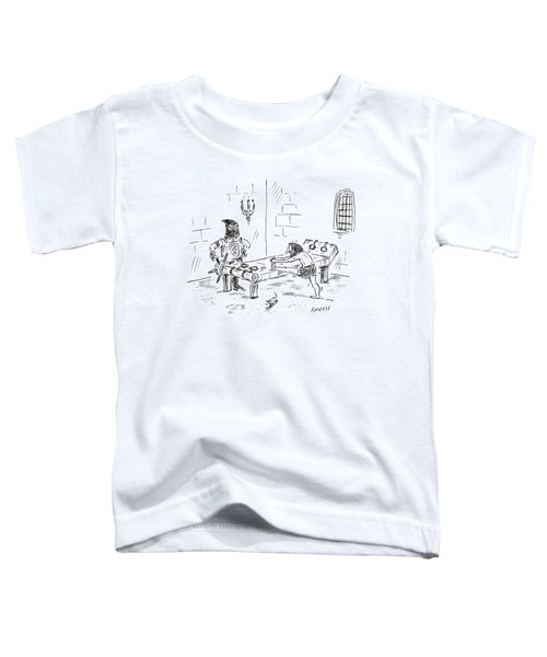 A Prisoner Is Seen Stretching On A Torture Rack Toddler T-Shirt