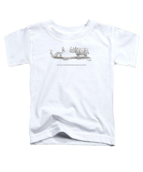 A Rhinoceros Speaks To A Gazelle Toddler T-Shirt