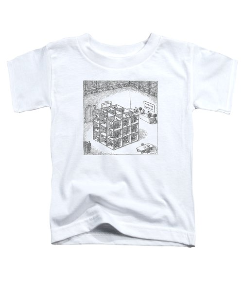 A Rubik's Cube Comprised Of Cubicles With Workers Toddler T-Shirt