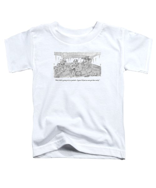 A Scared-looking Man Sits In The Back Of A Car Toddler T-Shirt