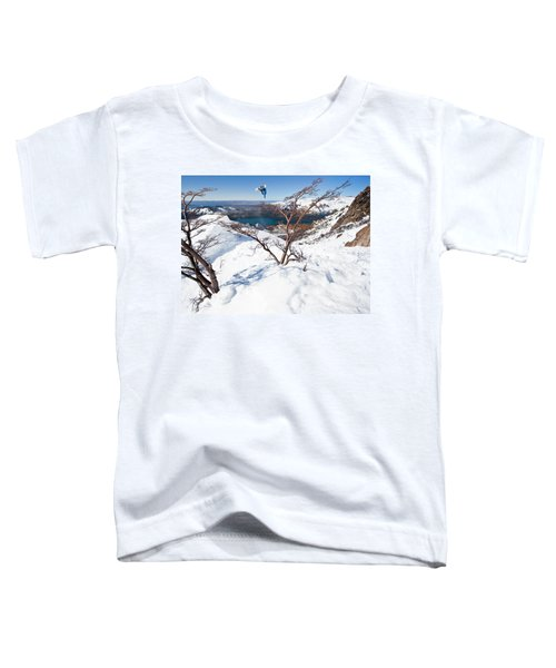 A Snowboarder Hits A Jump Toddler T-Shirt