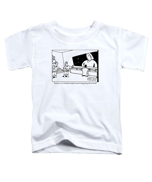 A Space Crew Stands Looking Through A Window Toddler T-Shirt