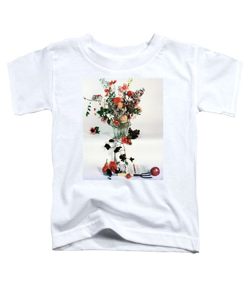 A Studio Shot Of A Vase Of Flowers And A Garden Toddler T-Shirt