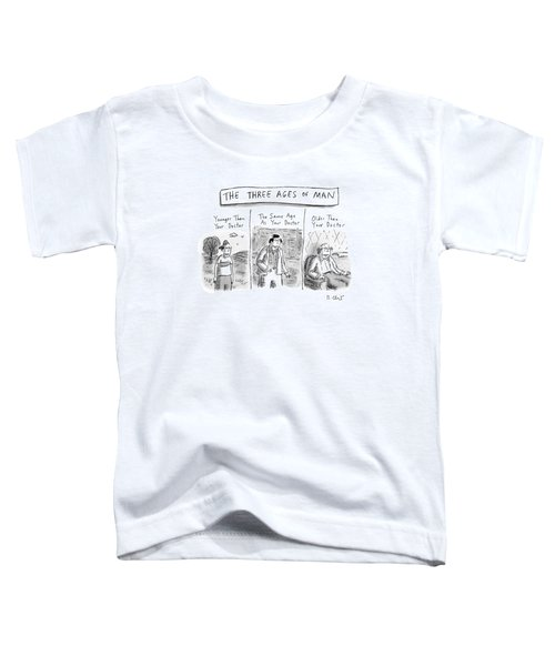 A Three Panel Images That Have Three Men: Toddler T-Shirt