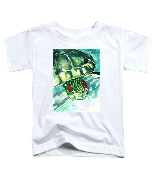 A Turtle Who Likes To Eat Fish Toddler T-Shirt