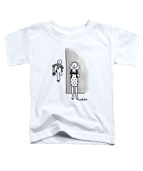 A Woman Dressed Up For A Date Waits Impatiently Toddler T-Shirt