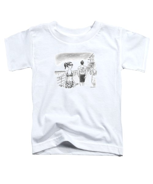 A Woman Passes A Man On The Boardwalk. Tattooed Toddler T-Shirt