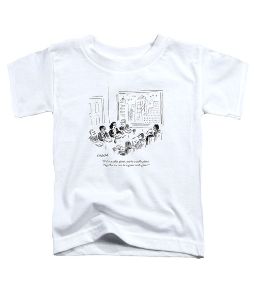 A Woman Speaks Across The Table At A Full Board Toddler T-Shirt