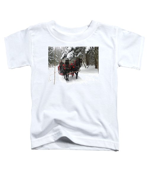 A Wonderful Day For A Sleigh Ride Toddler T-Shirt