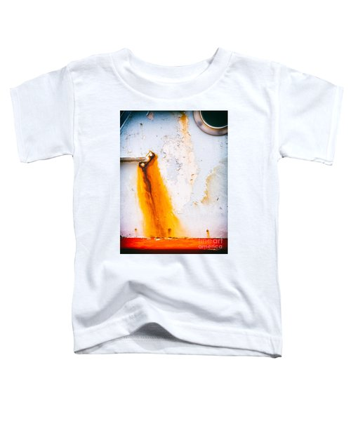 Toddler T-Shirt featuring the photograph Abstract Boat Detail by Silvia Ganora