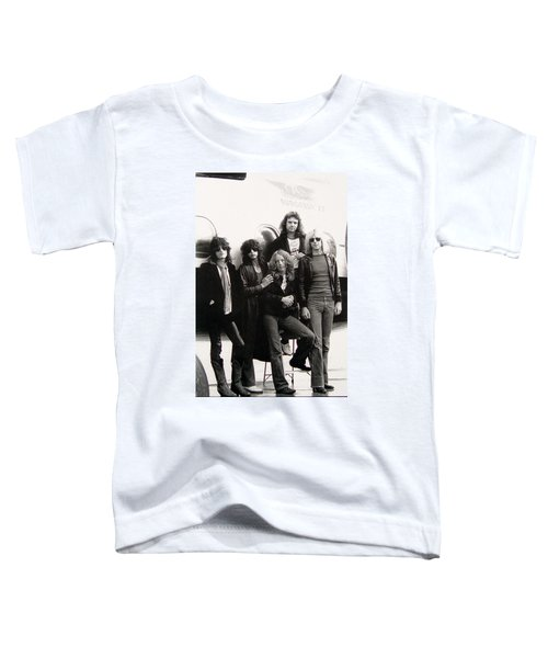 Aerosmith - Eurofest Jet 1977 Toddler T-Shirt by Epic Rights