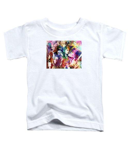Aerosmith Original Painting Toddler T-Shirt by Ryan Rock Artist