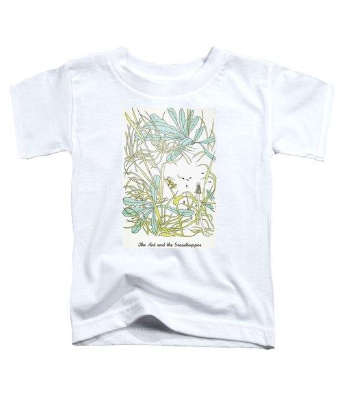 Aesop: Ant & Grasshopper Toddler T-Shirt by Granger