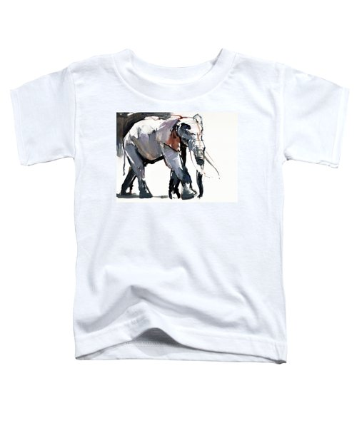 African Elephant, 2012, Mixed Media On Paper Toddler T-Shirt