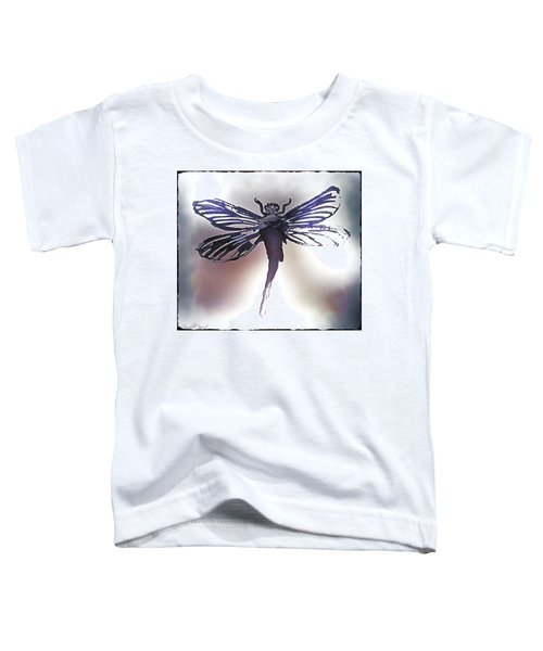 Alcohol Inks Purple Dragonfly Toddler T-Shirt