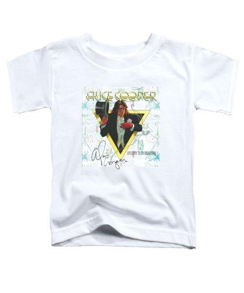 Alice Cooper Original Signature On Welcome To My Nightmare Album Artwork. Toddler T-Shirt
