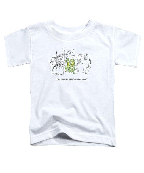 Alligators Riding The Subway Toddler T-Shirt