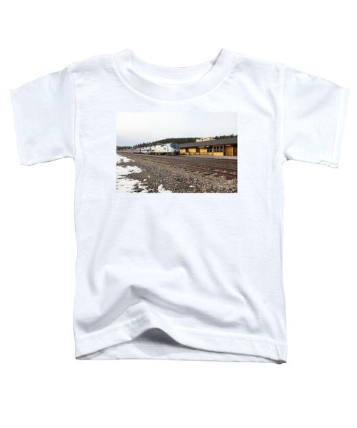Amtrak California Zephyr Trains At The Snowy Truckee California Train Station 5d27524 Toddler T-Shirt