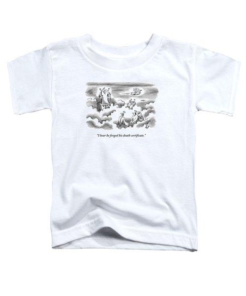 An Angel Is Giving A Political Speech In Heaven Toddler T-Shirt
