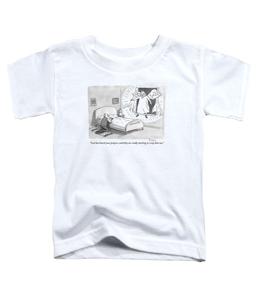An Angel Is Hovering In The Window Of A Man Toddler T-Shirt