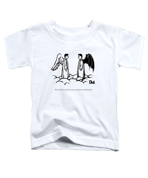 An Angel With Bat Wings Speaks To An Angel Toddler T-Shirt