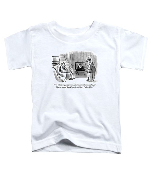 An Elderly Couple Are Seen Watching Toddler T-Shirt