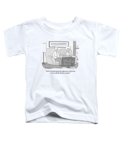 An Elderly Couple Watches Television Toddler T-Shirt