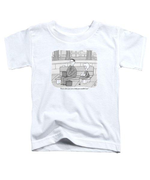 An Elderly Mother Holding A Turkey Scolds Toddler T-Shirt