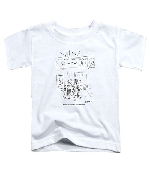 An Elderly Woman And A Zombie Go To Buy Tickets Toddler T-Shirt