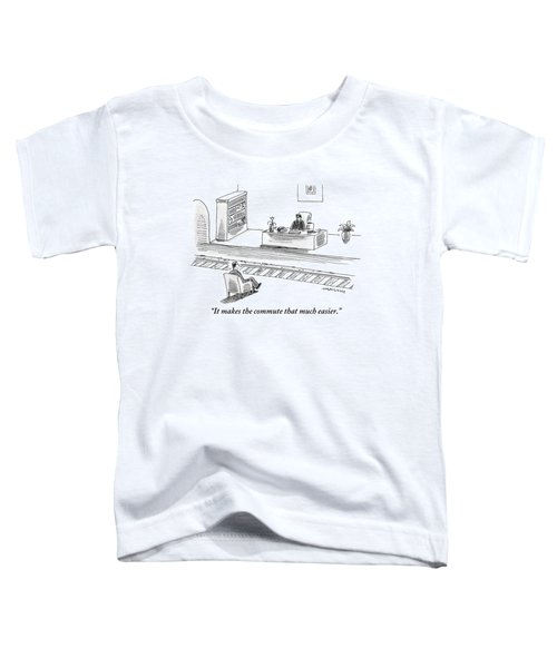 An Executive Sitting At His Desk Speaks To A Man Toddler T-Shirt