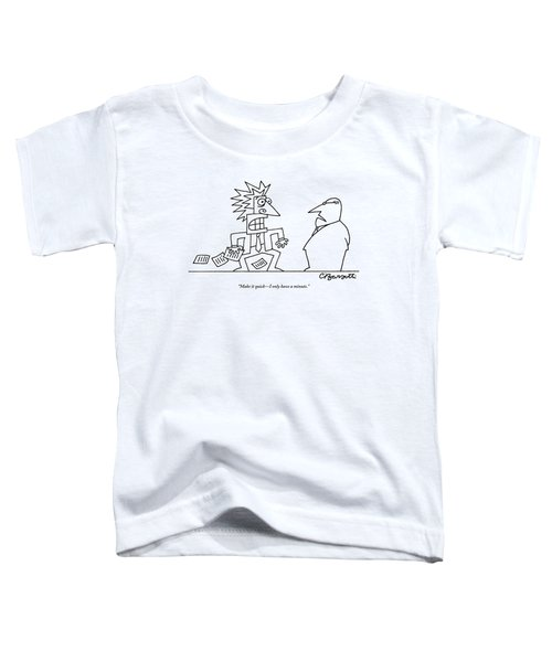 An Executive Speaks To A Stressed And Geometric Toddler T-Shirt