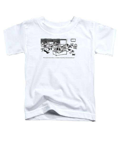 An Office Worker Speaks On The Phone Toddler T-Shirt