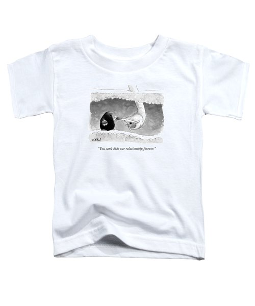 An Underground Mole Says To A Ostrich Poking Toddler T-Shirt