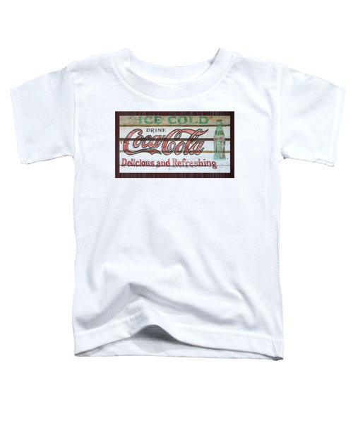 Antique Coca Cola Sign  Toddler T-Shirt
