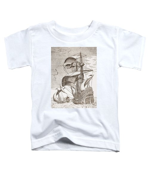 Armed Three-master On The Open Sea Toddler T-Shirt