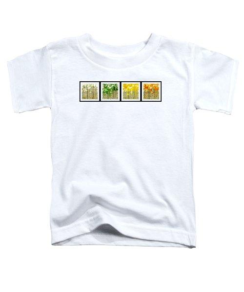 Aspen Colorado Abstract Horizontal 4 In 1 Collection Toddler T-Shirt