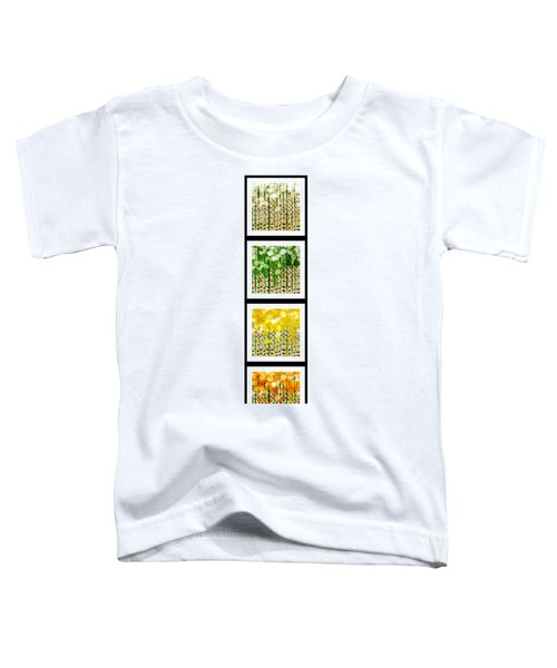 Aspen Colorado Abstract Vertical 4 In 1 Collection Toddler T-Shirt