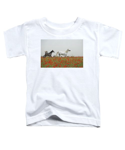 Toddler T-Shirt featuring the photograph At The Poppies' Field... 2 by Dubi Roman