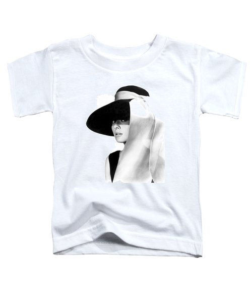 Audrey Hepburn Toddler T-Shirt by Daniel Hagerman