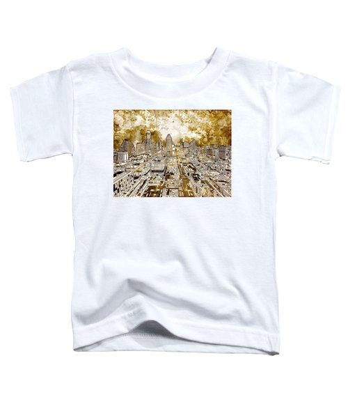 Austin Texas Abstract Panorama 6 Toddler T-Shirt by Bekim Art