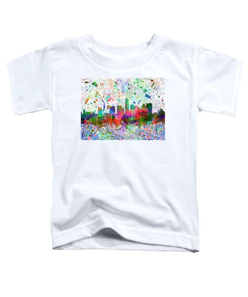 Austin Texas Abstract Panorama 7 Toddler T-Shirt by Bekim Art