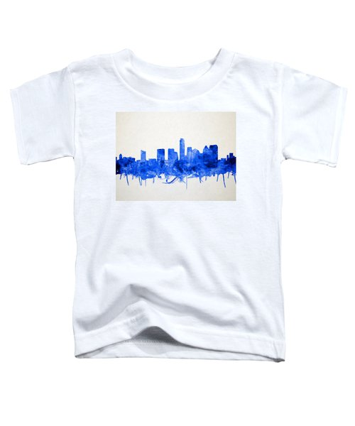 Austin Texas Skyline Watercolor 5 Toddler T-Shirt