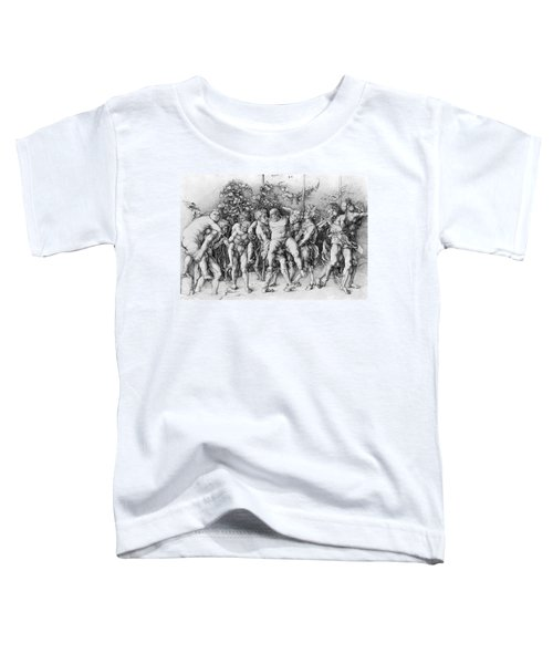 Bacchanal With Silenus - Albrecht Durer Toddler T-Shirt by Daniel Hagerman