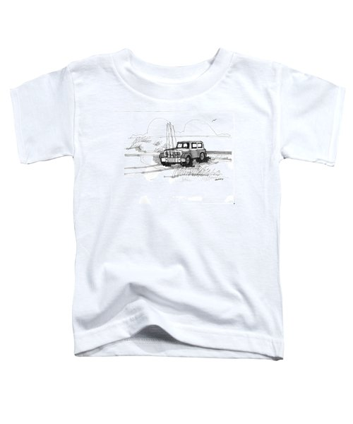 Beach Buggy Ocracoke 1970s Toddler T-Shirt