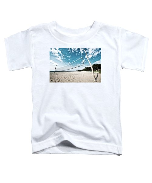 Beach Volleyball Net Toddler T-Shirt