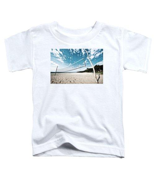 Beach Volleyball Net Toddler T-Shirt