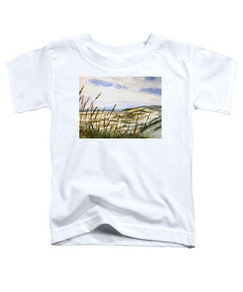 Beach Watercolor 3-19-12 Julianne Felton Toddler T-Shirt
