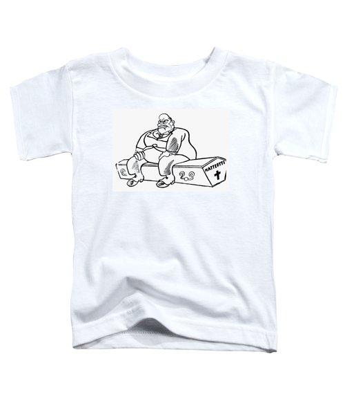 Benito Mussolini Cartoon Toddler T-Shirt