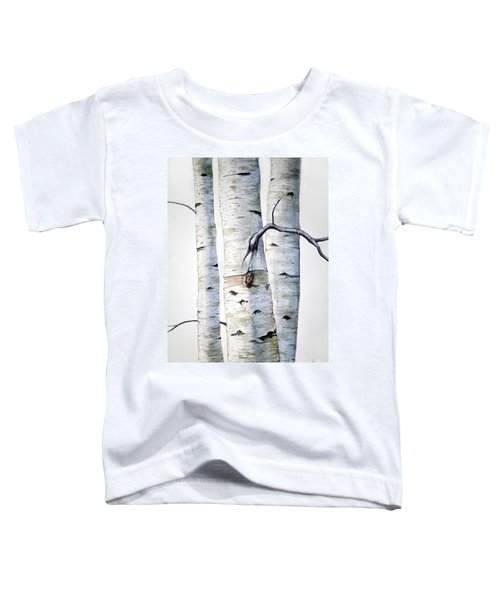 Birch Trees In Watercolor Toddler T-Shirt